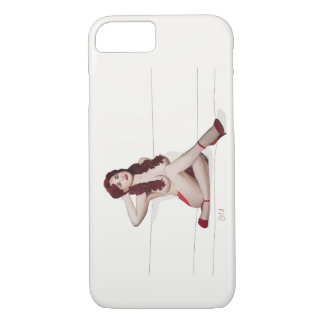 Vintage Pinup girl - Red Passion iPhone 7 Case