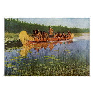 Vintage Pioneers, Great Explorers by Remington Poster