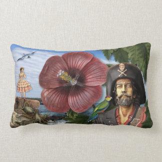 Vintage Pirate Collage Lumbar Pillow