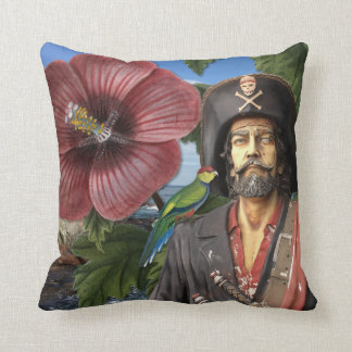 Vintage Pirate Collage Pillow