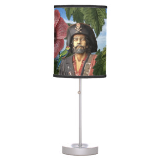 Vintage Pirate Collage Table Lamp