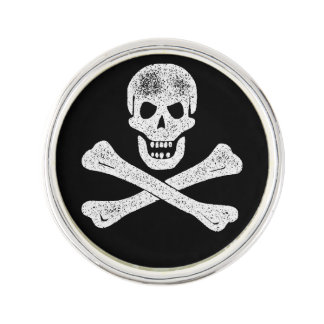 Vintage Pirate Crossbones Lapel Pin
