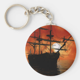 Vintage Pirate Ship Keychain