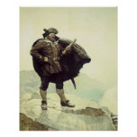 Vintage Pirates; Captain Bill Bones by NC Wyeth Poster