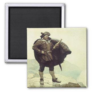 Vintage Pirates, Captain Bill Bones by NC Wyeth Square Magnet
