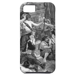 Vintage Pirates Drinking and Fighting on the Ship Case For The iPhone 5