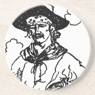 Vintage Pirates Sketch of a Captain by Howard Pyle Coaster
