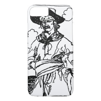 Vintage Pirates Sketch of a Captain by Howard Pyle iPhone 7 Case