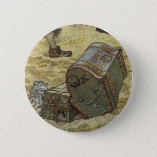 Vintage Pirates, William Kidd Burying Treasure 2 Inch Round Button