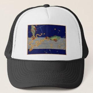 Vintage Pisces Star Chart Trucker Hat