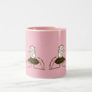 ~ Vintage Pixie Fractal ~ Two-Tone Coffee Mug