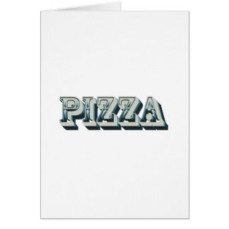 Vintage Pizza for trendy hipsters and foodies Card