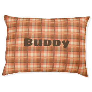 Vintage Plaid Custom Cozy Dog Pillow