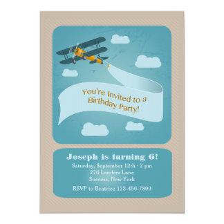 Vintage Plane Invitation