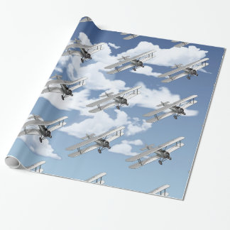 Vintage Plane Wrapping Paper