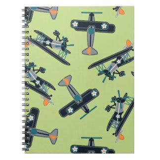 Vintage planes notebooks