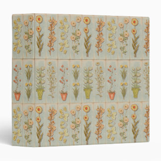 Vintage Plant Illustrations Vinyl Binder