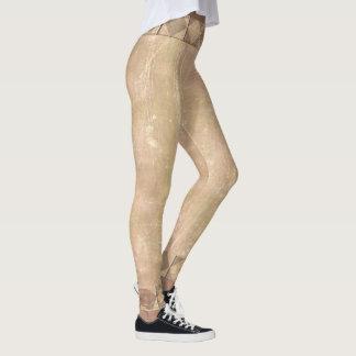Vintage Plaster Rose Steampunk Leggings