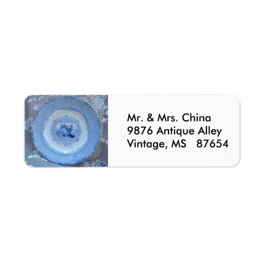 Vintage Plate Return Address Label