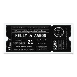 Vintage Playbill Theater Ticket Wedding Invitation