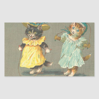 vintage playful kittens sticker