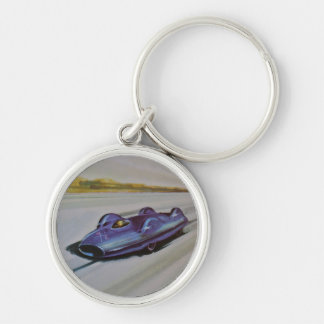 Vintage Playing Card of a racing Car Key Chain