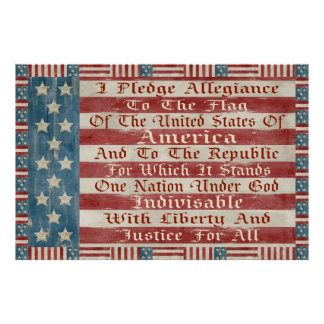 Vintage Pledge Of Allegiance Poster