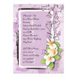 Vintage plumeria ivy purple white bridal shower