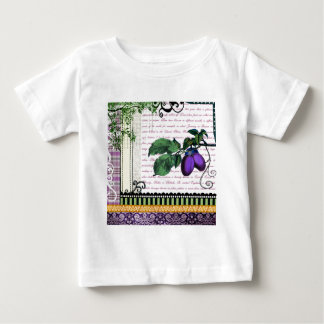 Vintage Plums Fruit Collage Baby T-Shirt