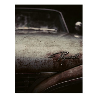 Vintage Plymouth Auto Rusted Artsy Imagery Detroit Postcard