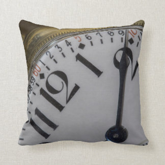 Vintage Pocket Watch Face Throw Pillow