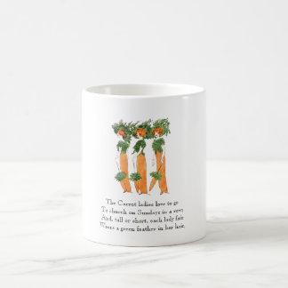 Vintage Poem Carrot Vegetable Cute Ladies Mug