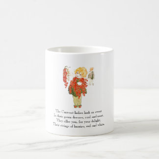 Vintage Poem Currant Berries Rhyme Cute Kids Mug