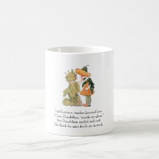 Vintage Poem Dandelion Lettuce Cute Kids Mug