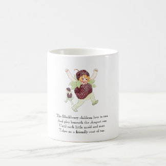 Vintage Poem Fruit Rhyme Blackberry Children Funny Coffee Mug