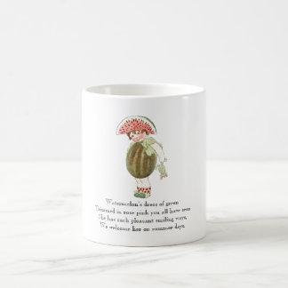 Vintage Poem Fruit Rhyme Watermelon Cute Kid Mug