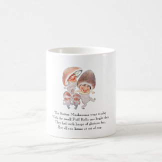 Vintage Poem Mushrooms Puffball Cute Kids Mug