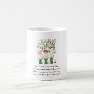 Vintage Poem Pearl Onions Cute Kids Vegetables Coffee Mug