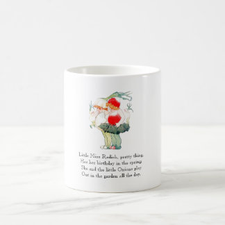 Vintage Poem Radish Onion Cute Kids Mug