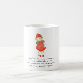 Vintage Poem Strawberry Cute Fruit Little Girl Coffee Mug