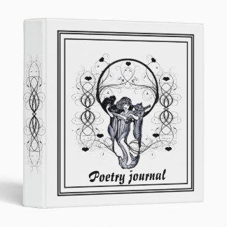 Vintage poetry journal, binder