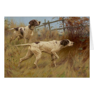 Vintage - Pointer Dogs on Point, Card