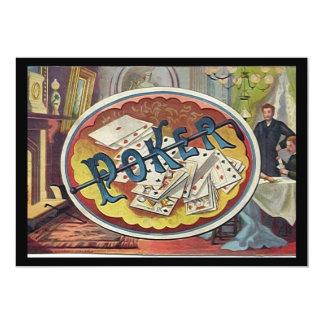 Vintage Poker Mens Smoking Room Gambling Card