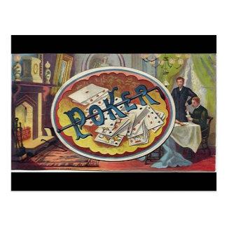 Vintage Poker Mens Smoking Room Gambling Post Cards