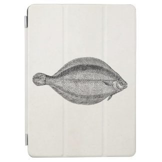 Vintage Pole Flounder Fish Personalized Template iPad Air Cover