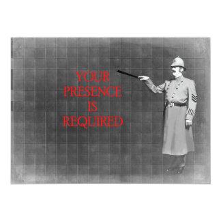 Vintage Police Man Illustration Card