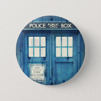 Vintage Police phone Public Call Box 2 Inch Round Button