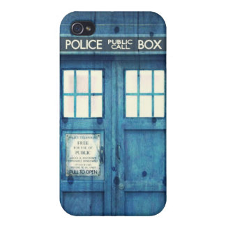 Vintage Police phone Public Call Box iPhone 4 Case