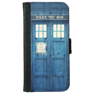 Vintage Police phone Public Call Box iPhone 6 Wallet Case
