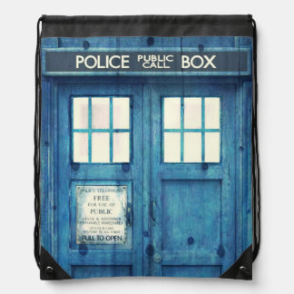 Vintage Police phone Public Call Box Backpack